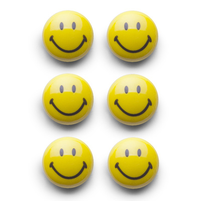 "Magnet-Set, 6-tlg., ""Smiley"", Kunststoff"